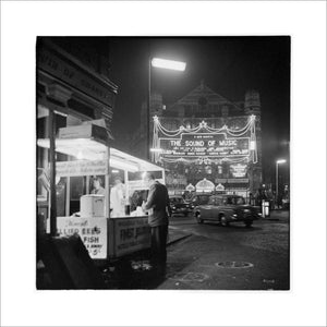The Palace Theatre at night; 1960