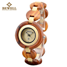 Casual Round Frame Wooden Watch