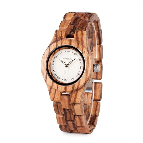 31MM Classic Quartz Wooden Watch