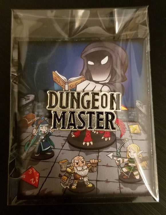 D&D Dungeons and Dragons Dungeon Master Enamel Lapel Dice Bag Pin RPG Role Playing DCC Pathfinder D20 Pin