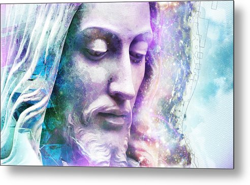 Cosmic Christ - Metal Print