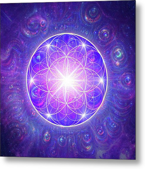 Flower of Life - Metal Print