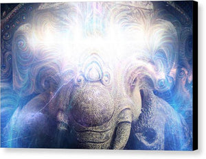 GANESHA Electric Wisdom - Canvas Print