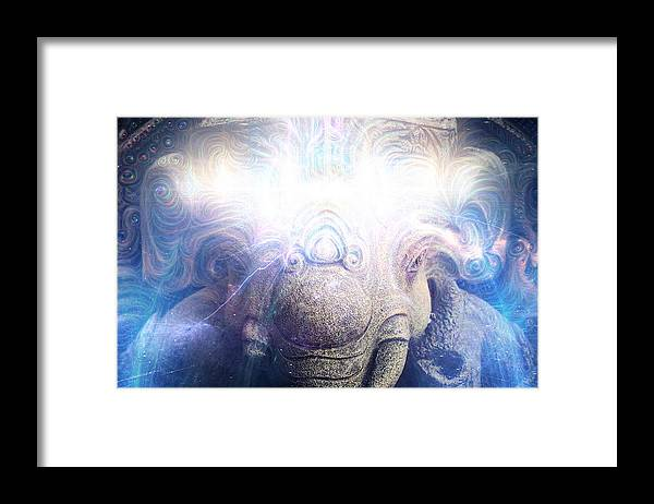 GANESHA Electric Wisdom - Framed Print