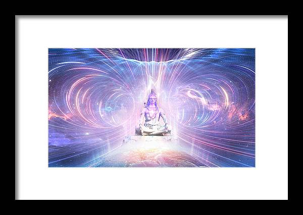 LORD SHIVA The Eternal Realm - Framed Print