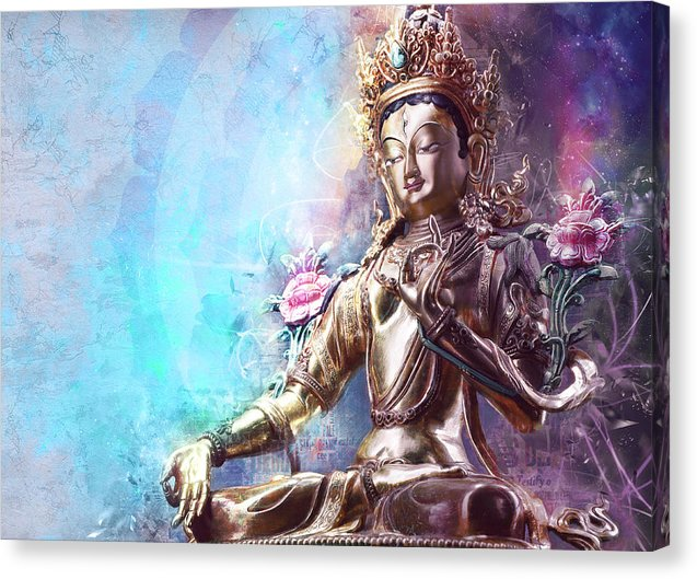 Sacred Green Tara - Canvas Print