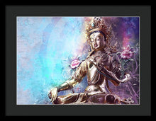 Load image into Gallery viewer, Sacred Green Tara - Framed Print