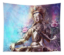 Load image into Gallery viewer, Sacred Green Tara - Tapestry