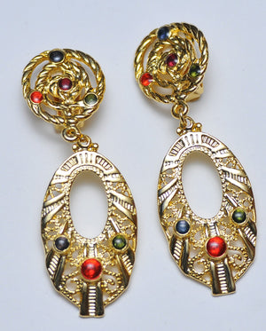 Oval antique earrings