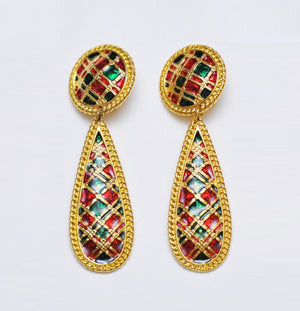 Vitrail Enamel Earrings