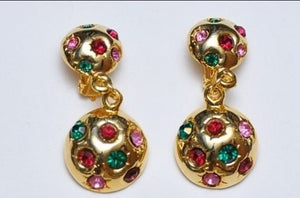 Colorful Round Earrings