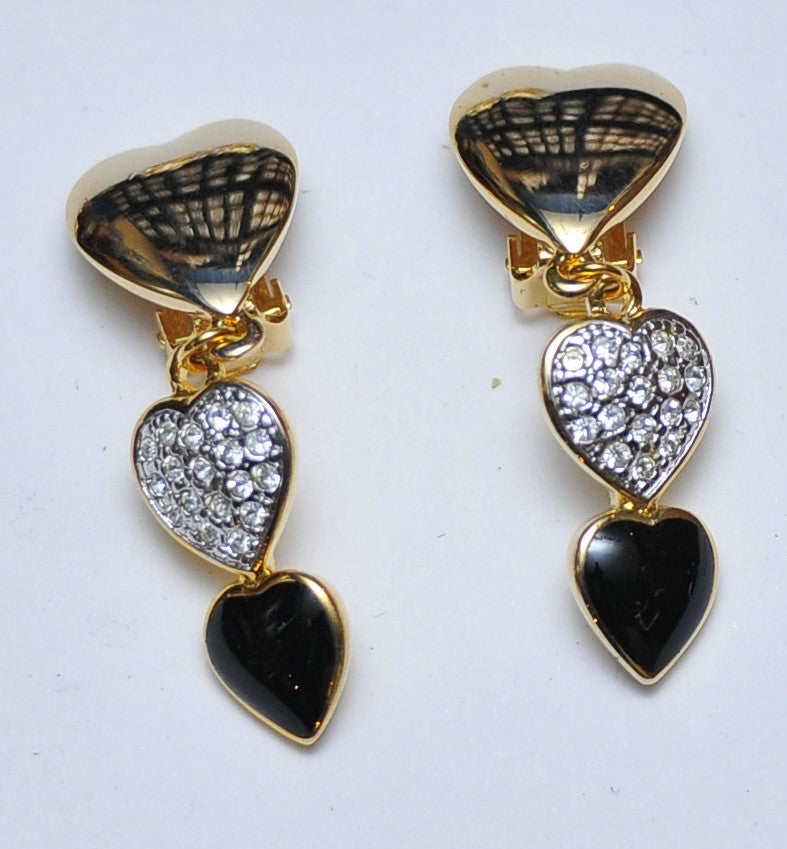 Three hearts earrings