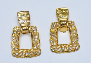 Gold Square earrings