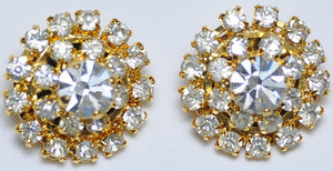 Gold strass earrings