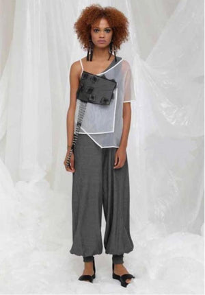 The grey tulle jumpsuit