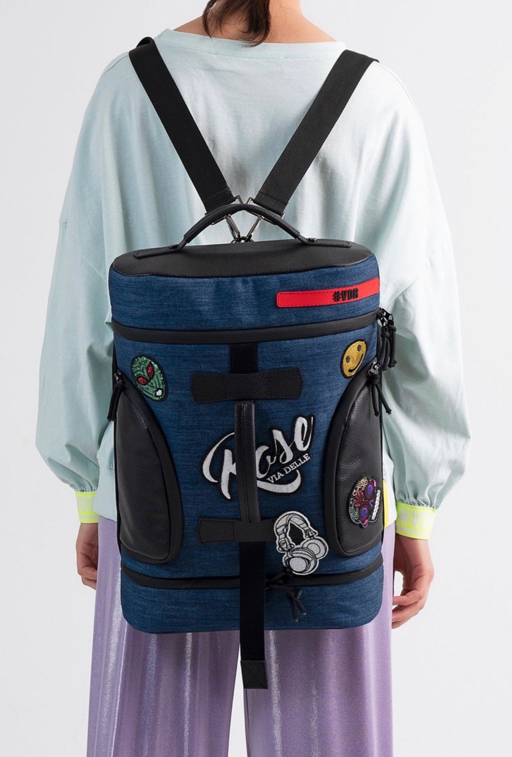The denim funky back pack