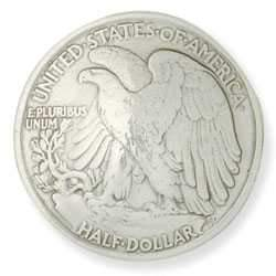 "Eagle Half-Dollar Concho 1-3/16"" (30 mm)"
