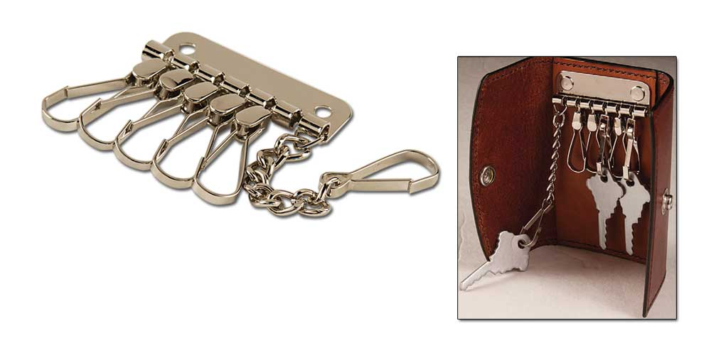 6 Hook Key Plate With Chain