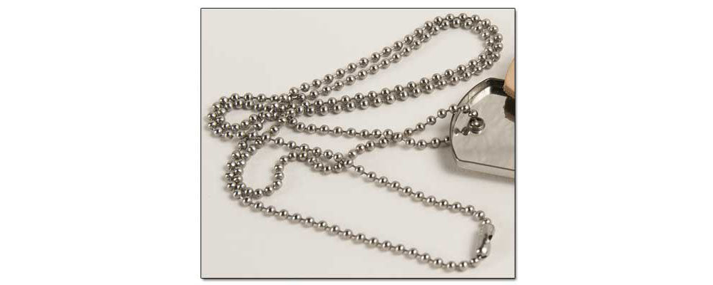 FINAL SALE Beaded dog tag Chain
