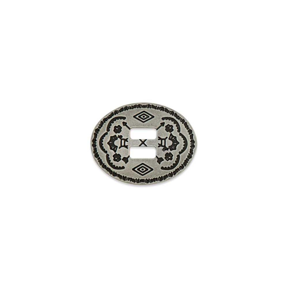 Southwest Slotted Conchos Frosted Nickel Plate/Nickel Free 6 Pack
