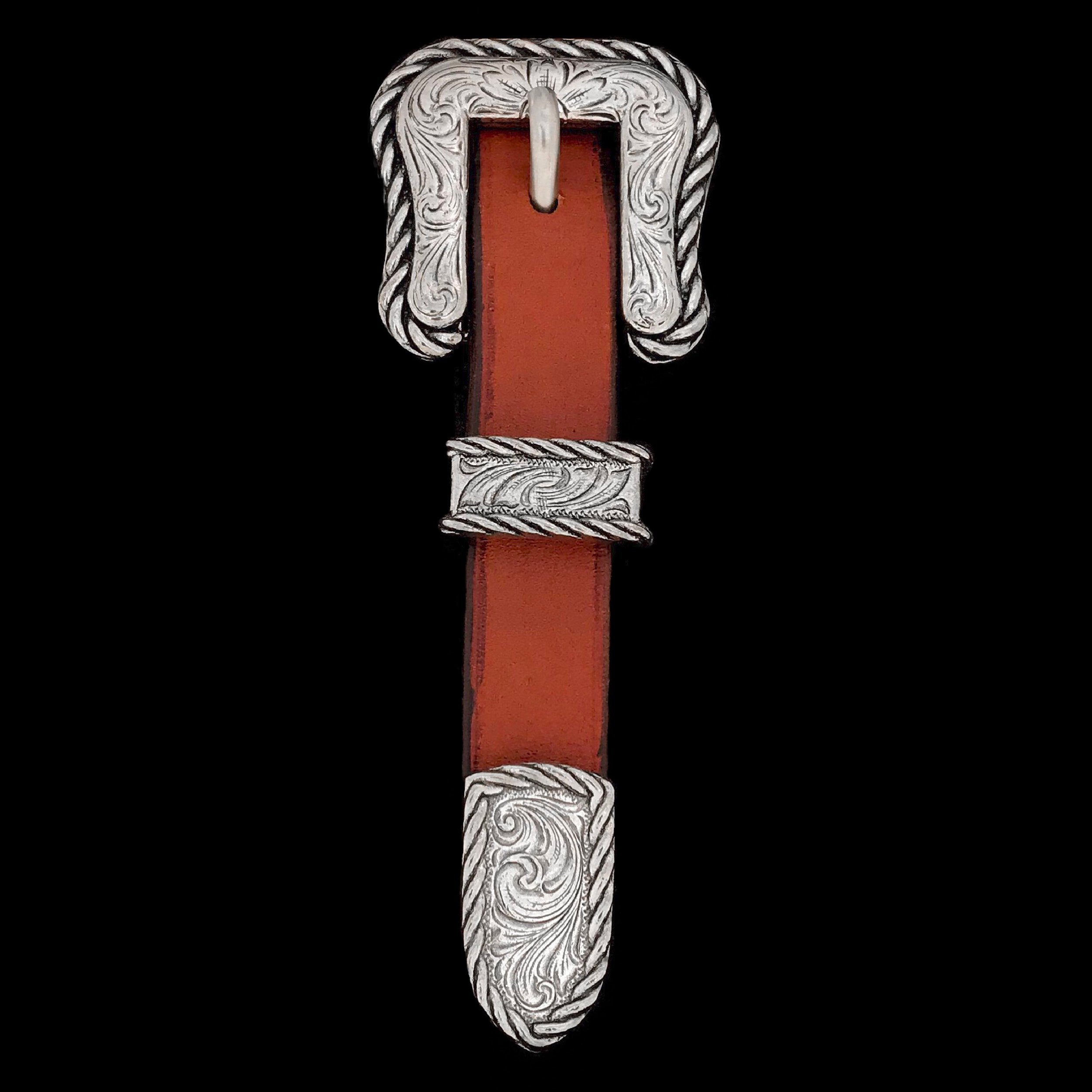 Rockin' Out Square Rope Edge Belt Hardware - 3/4 in