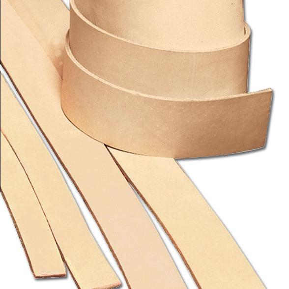 Heavyweight Natural Cowhide Leather Strips
