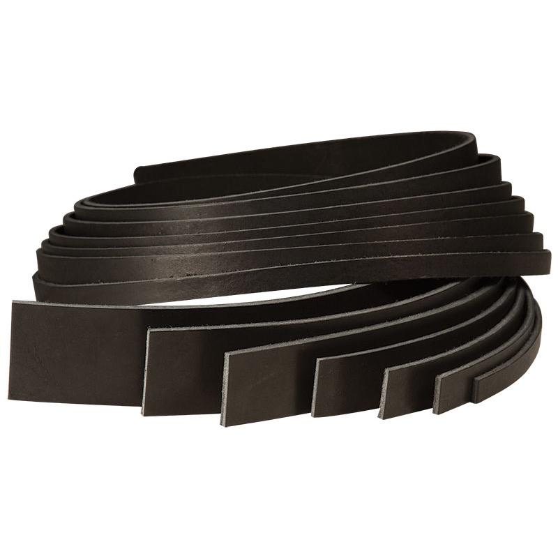 Black Cowhide Strips