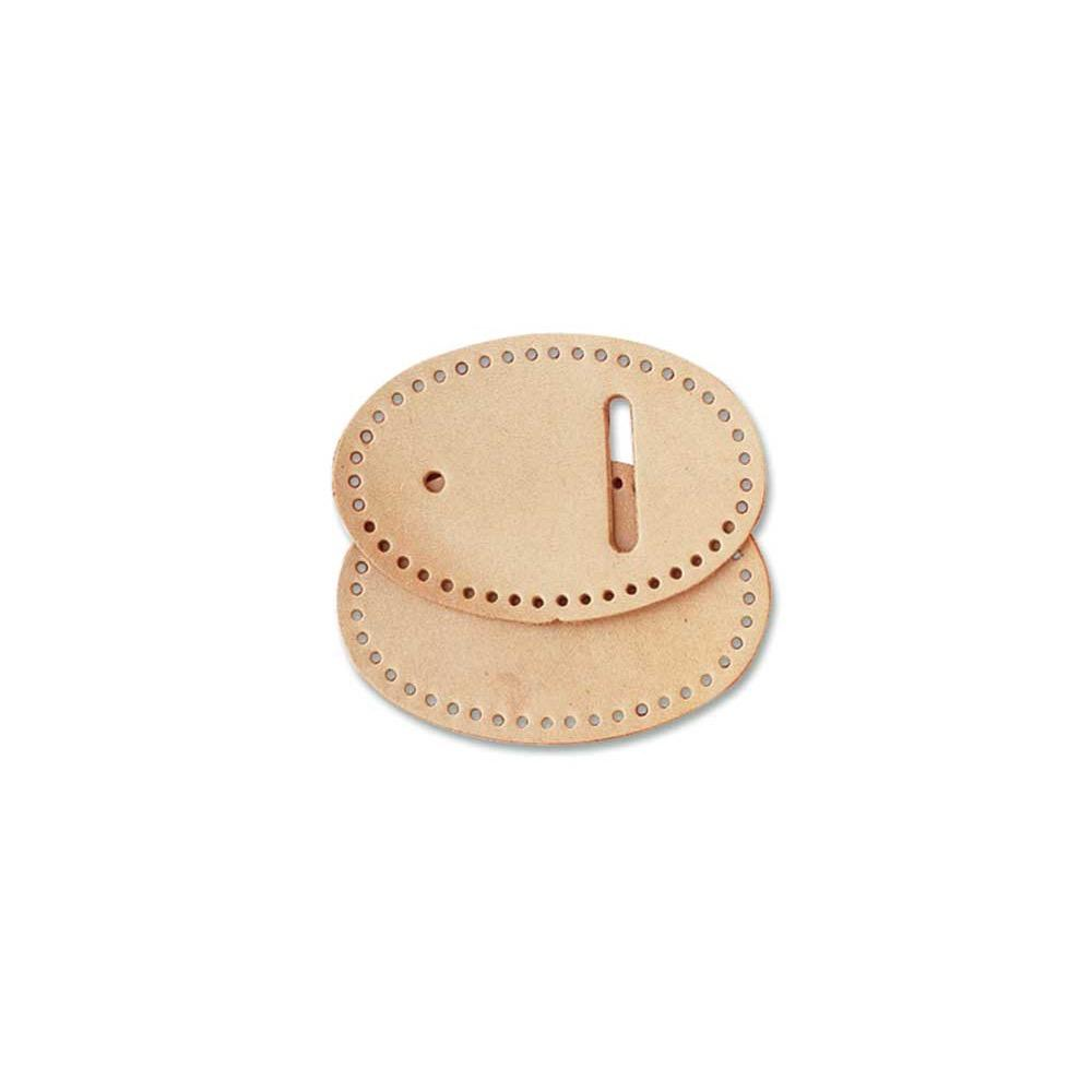 Oval Buckle Leather Large