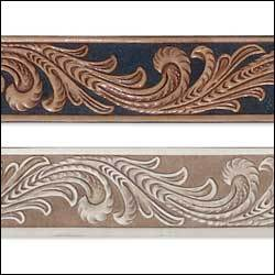 "Embossed Floral Vine Belt Blank 1-1/2"" (38 mm)"