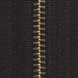 #5 Zipper Chain Black Cloth 6/Ft