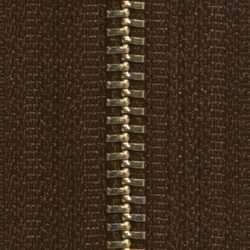 #5 Zipper Chain Brown Cloth 6/Ft