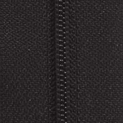 #5 Nylon Zipper Chain Black Cloth 6/Ft