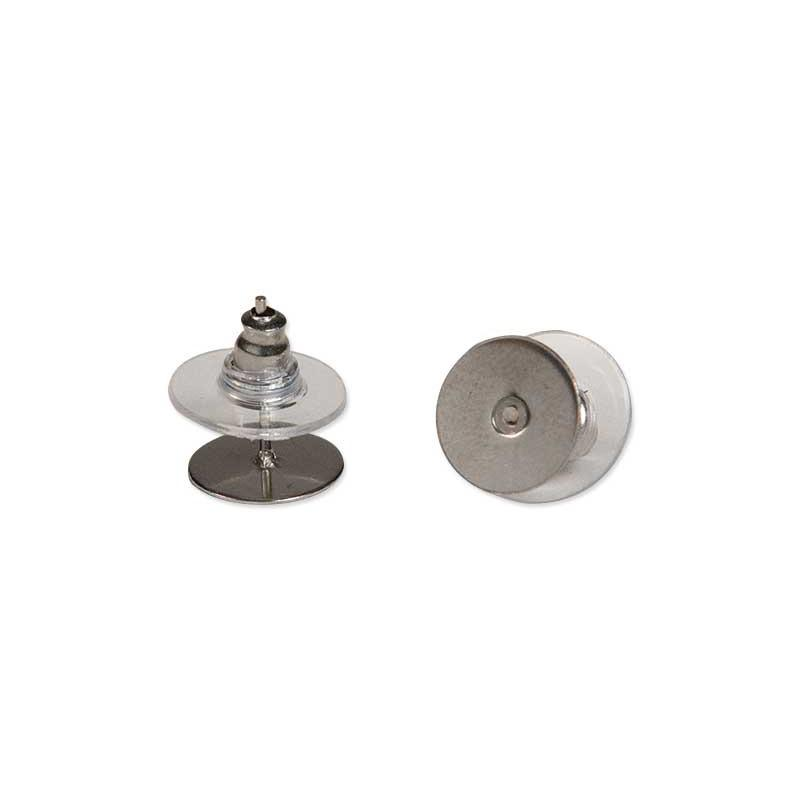 Earring Post Studs Stainless Steel 10 Mm 2 Pack