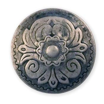 "Round Flower Stamped Steel Concho 1"" (25 mm)"
