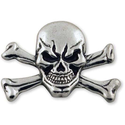 "Skull & Cross Bones Concho 1-3/4"" (44 mm) X 1-1/8"""