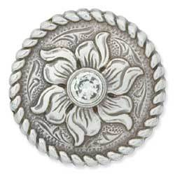 "Crystal Flower Concho 1"" (25 mm)"