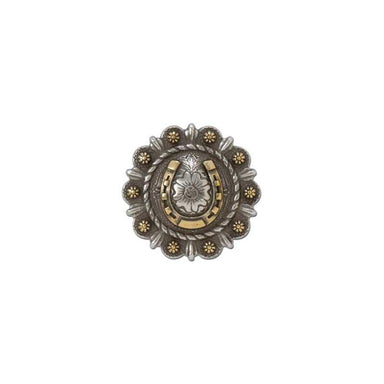 Roped Berry Round Conchos With Center Motif