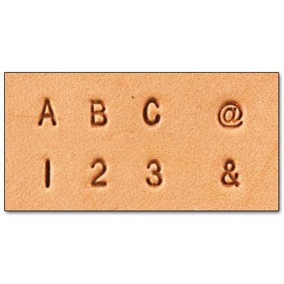 "Craftool® 1/8"" (3 mm) Alphabet & Number Set"