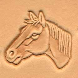 Horse Head 3-D Stamp (Left)