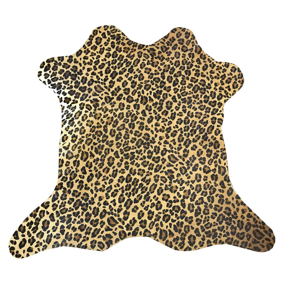 Hair-On Calfskin Print Leopard