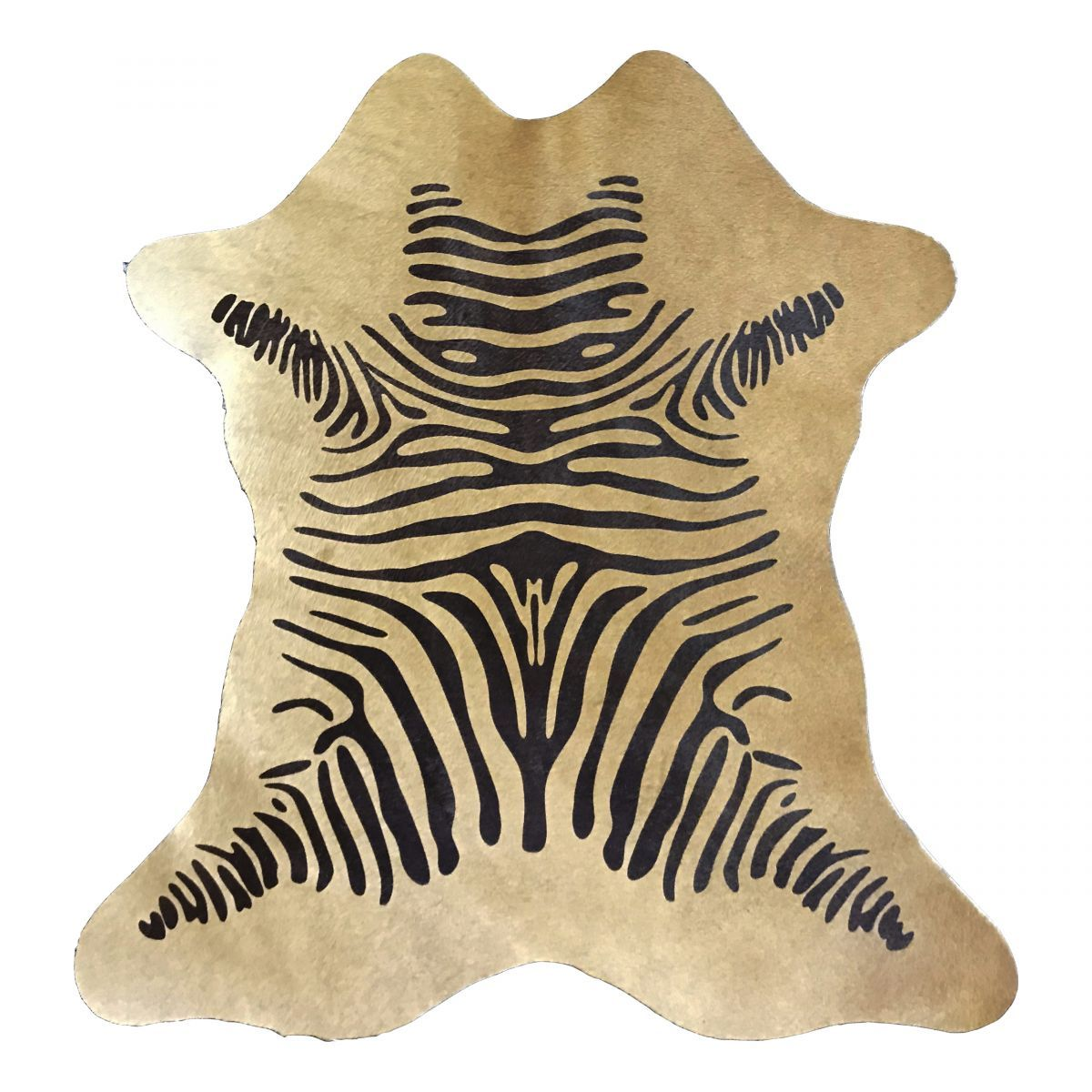 Hair-On Calfskin Print Beige Zebra
