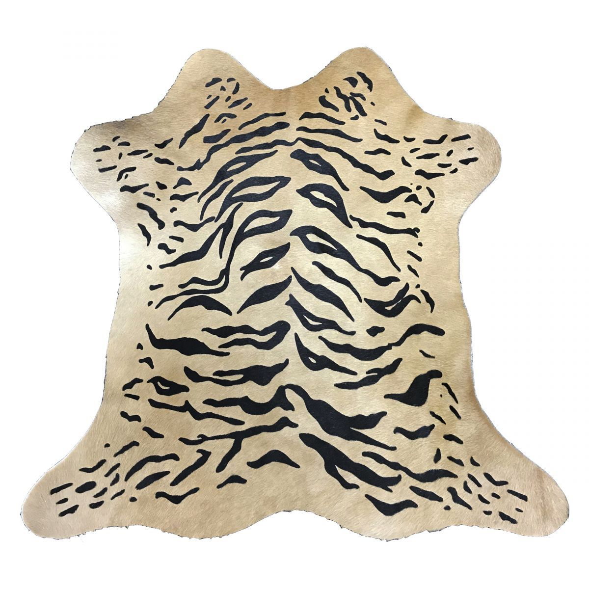 Hair-On Calfskin Print Beige Tiger
