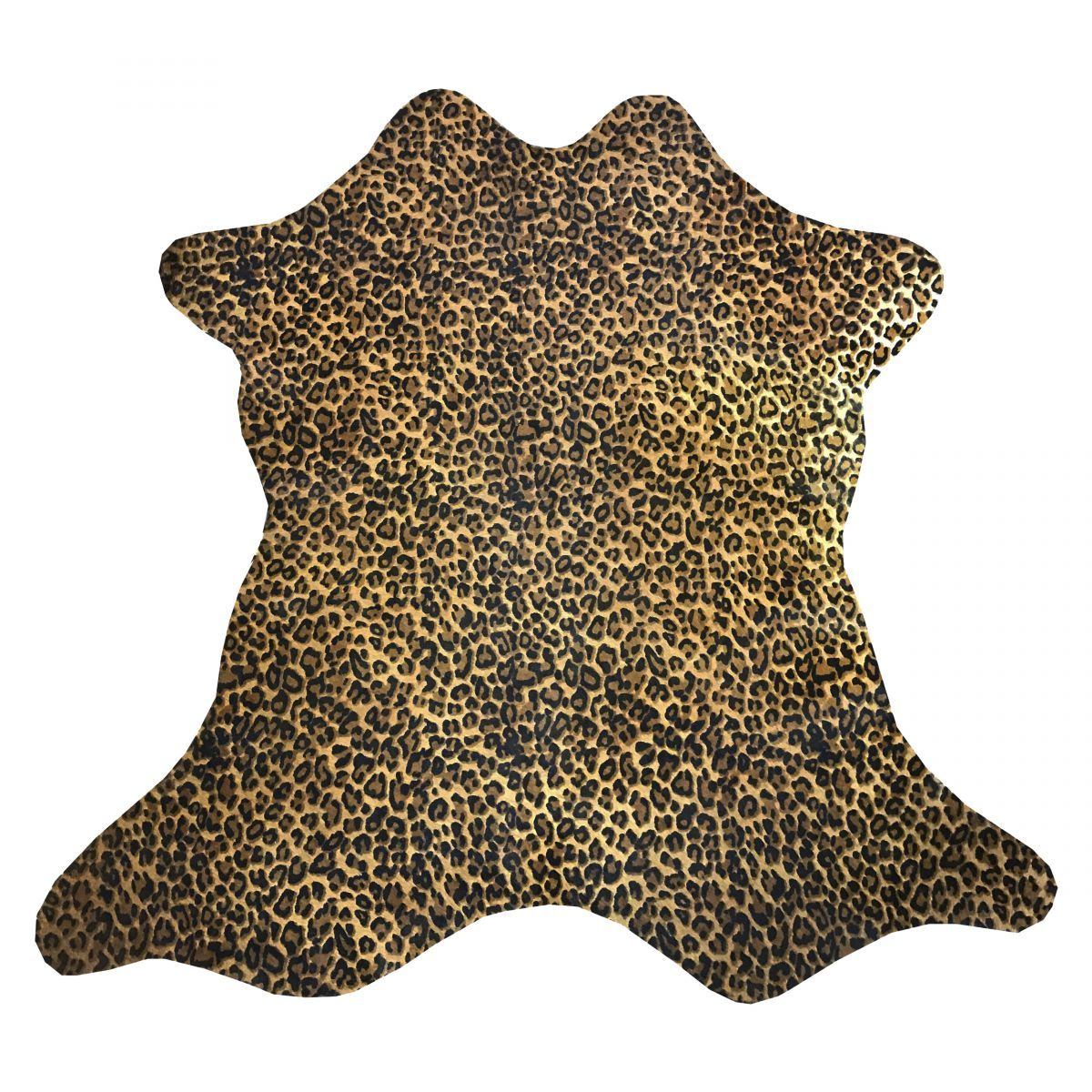 Hair-On Calfskin Print Rustic Leopard