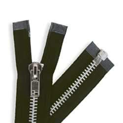Chap Zippers Black/Aluminum