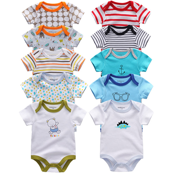 5pcs Baby Clothes 2019 Baby Rompers