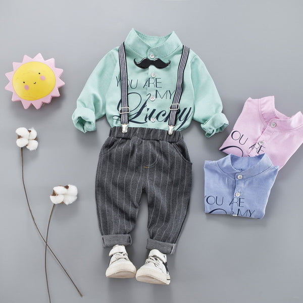 Baby spring and autumn clothes gentleman style male baby clothes