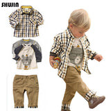 Shujin Baby Boys Clothing Sets  3pcs Kids Boys Casual Clothing