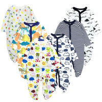 6PCS/LOT Baby Rompers 2019 Long Sleeve 100%Cotton overalls Newborn clothes Roupas de bebe boys girls jumpsuit&clothing
