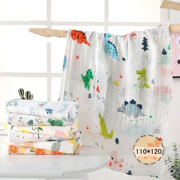 1Pc muslin 110*120CM Cotton Baby Swaddles Soft Newborn Blankets