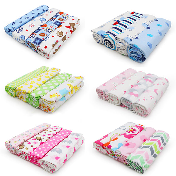 4Pcs/Lot Baby Blanket Muslin Diaper 100% Cotton Newborn Swaddle Blankets